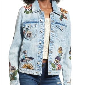 BlankNYC | Embroidered Jean Jacket Beaded Birds